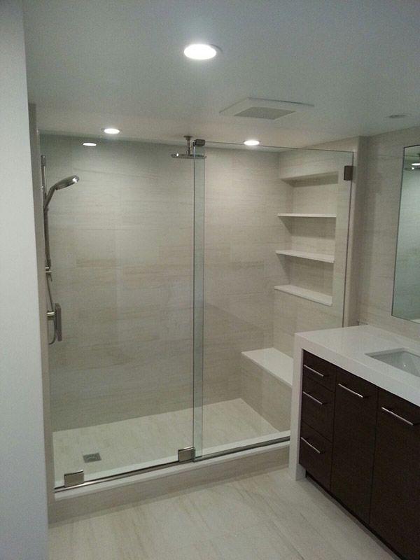 ... Frameless Single Sliding Shower Doors ... & Shower Doors Gallery | The Original Frameless Shower Doors pezcame.com