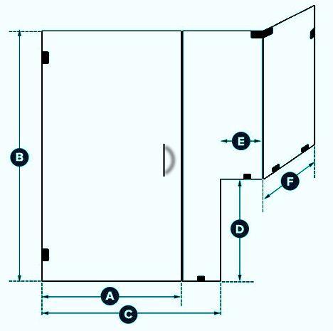 90 Degree Layout 6 The Original Frameless Shower Doors