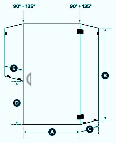 Neo Angle Layout 22 The Original Frameless Shower Doors