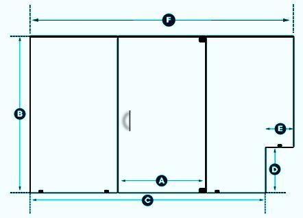 Inline Layout 23 The Original Frameless Shower Doors