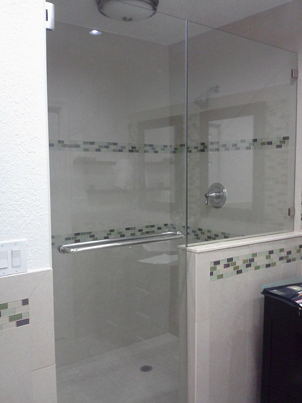 Frameless shower doors Inline Door & Panel