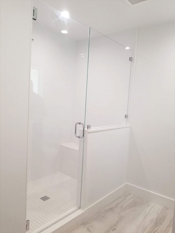 Inline Door and Panels - The Original Frameless Shower Doors