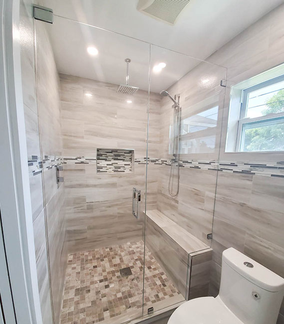 Inline Shower Doors and Panel